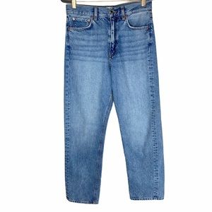 Zara The Relaxed Fit Straight Leg Jeans Size 4